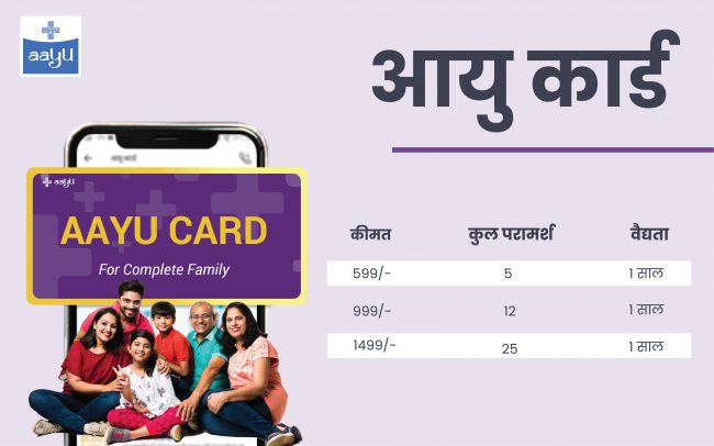 Aayu card For online consultation
