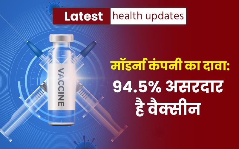 Latest Health Updates: कोरोना से बचाव में 94.5 फीसदी प्रभावी होगी मॉडर्ना की वैक्सीन!