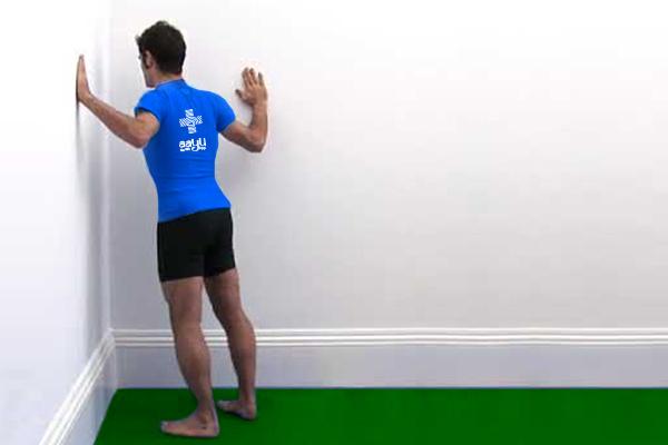 Corner Pec Stretch exercise for oxygen level