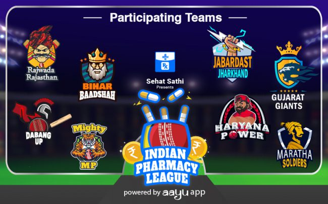 Participating Teams of Indian pharmacy league